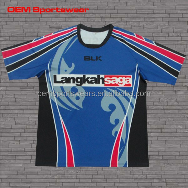 High quality new zealand dye sublimation rugby jersey