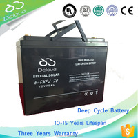 High-rate discharge 12V70Ah battery with liquid shunt valve lead crystal battery