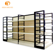 Modern multilayer board wood floor ornament cloth shoes gondola <strong>shelves</strong> supermarket shelving