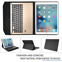 Tablet Keyboard Case for iPad Pro,Ultra-thin aluminum Bluetooth Keyboard Portfolio Case for Apple ipad pro 12.9 inch tablet