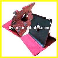 Roses Pattern For iPad 4 3 2 Fashion Leather Case 360 Rotating Stand Smart Cover With Magnetic Wholesale Good Price