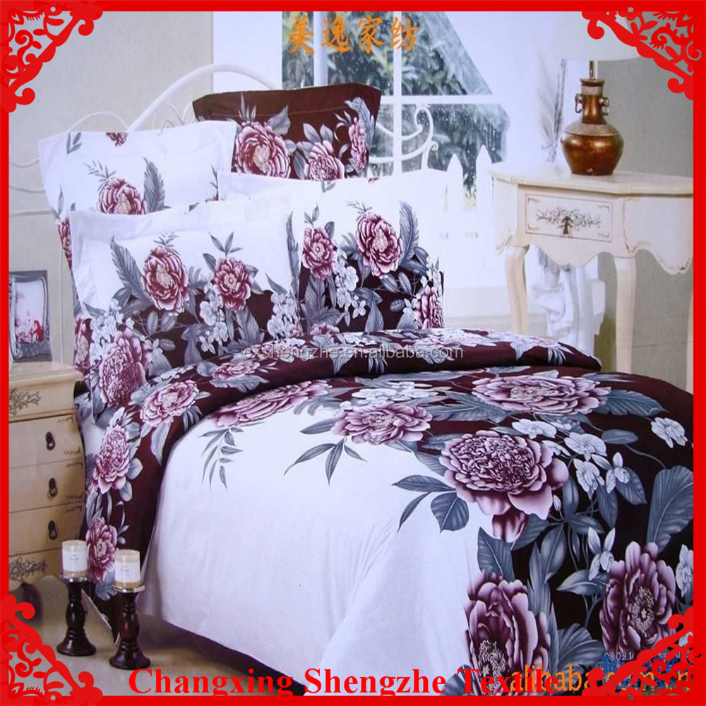 bedsheets sets using printed polyester fabric in china alibaba