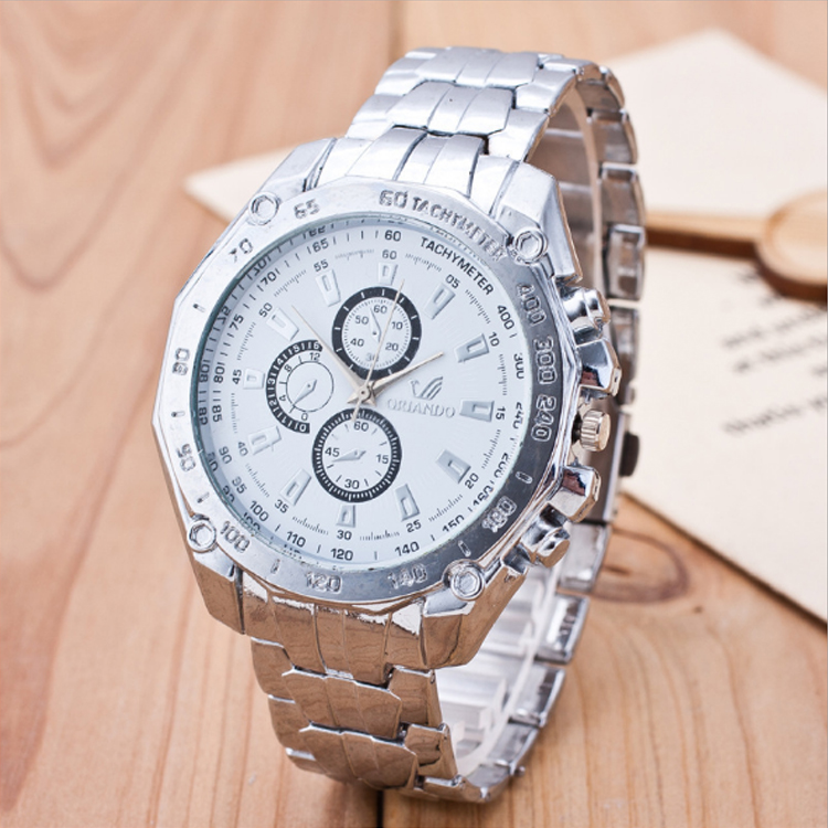 >>>Fashion Mens Luxury Cheap Stainless Steel Western Wrist Watch For Gift