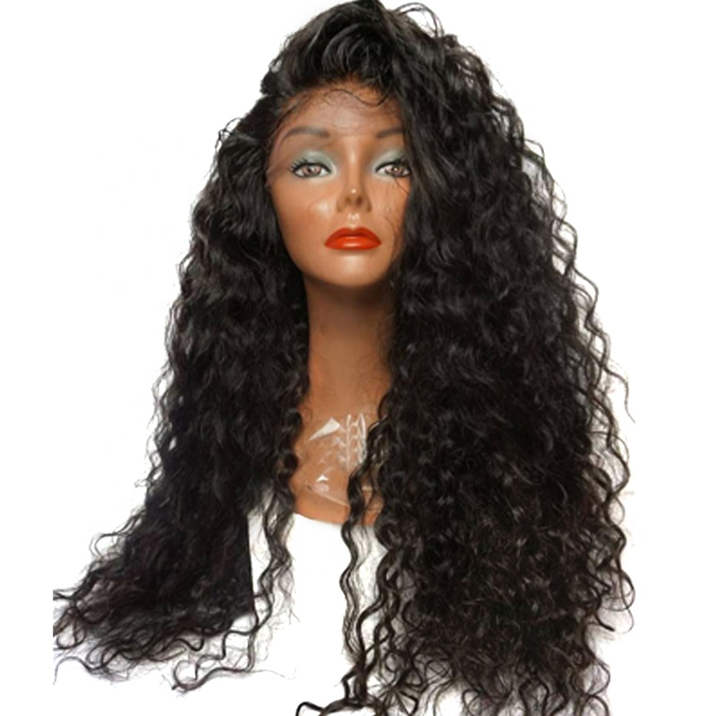 100 human hair brazilian hair swiss lace wig virgin cuticle aligned hair kinky curly lace front wig