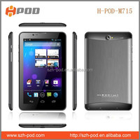 7 inch smart android tablet pc 2g phone call mtk6572 2800mAh battery can play more than 5 hours