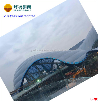 New design ETFE membrane structure for Disneyland ETFE membrane roof and hollow contract with free design