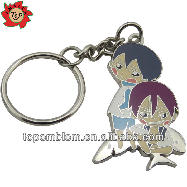 Personalized metal custom shaped key holder keyring