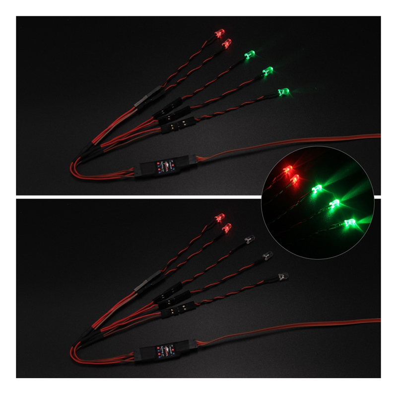 1061031-Airplanes LED Driver w/ LED Lights for 800mm-1400mm RC Fixed-wing Airplane