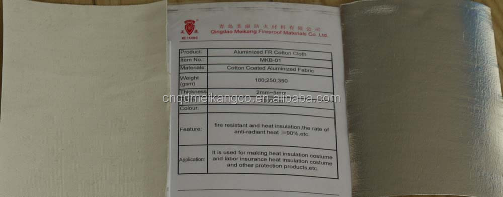 Aluminized Fire Resistant Cotton Cloth