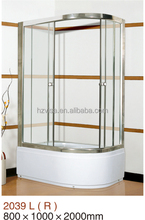 New style shower enclosure sliding shower room cabin in glass
