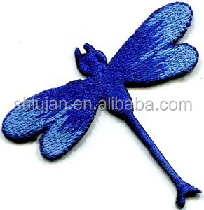 Dragonfly dragon fly insect fun retro sew sewing applique iron-on patch