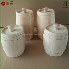 Customized Small Gift Barrels with Lid and Decorative Metal Rings