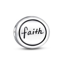 New Hot Wholesale 925 Sterling Silver Faith Medallion Charm