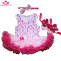 Lovely Baby Cotton Sleeveless Two layers Tulle Tutu Romper Dress Boutique Toddler Baby Ruffle Romper