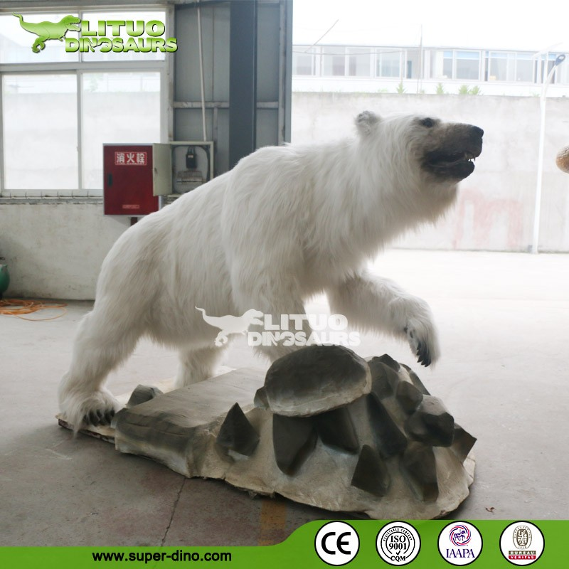 Life Size Polar Bear Animatronic Animal Model