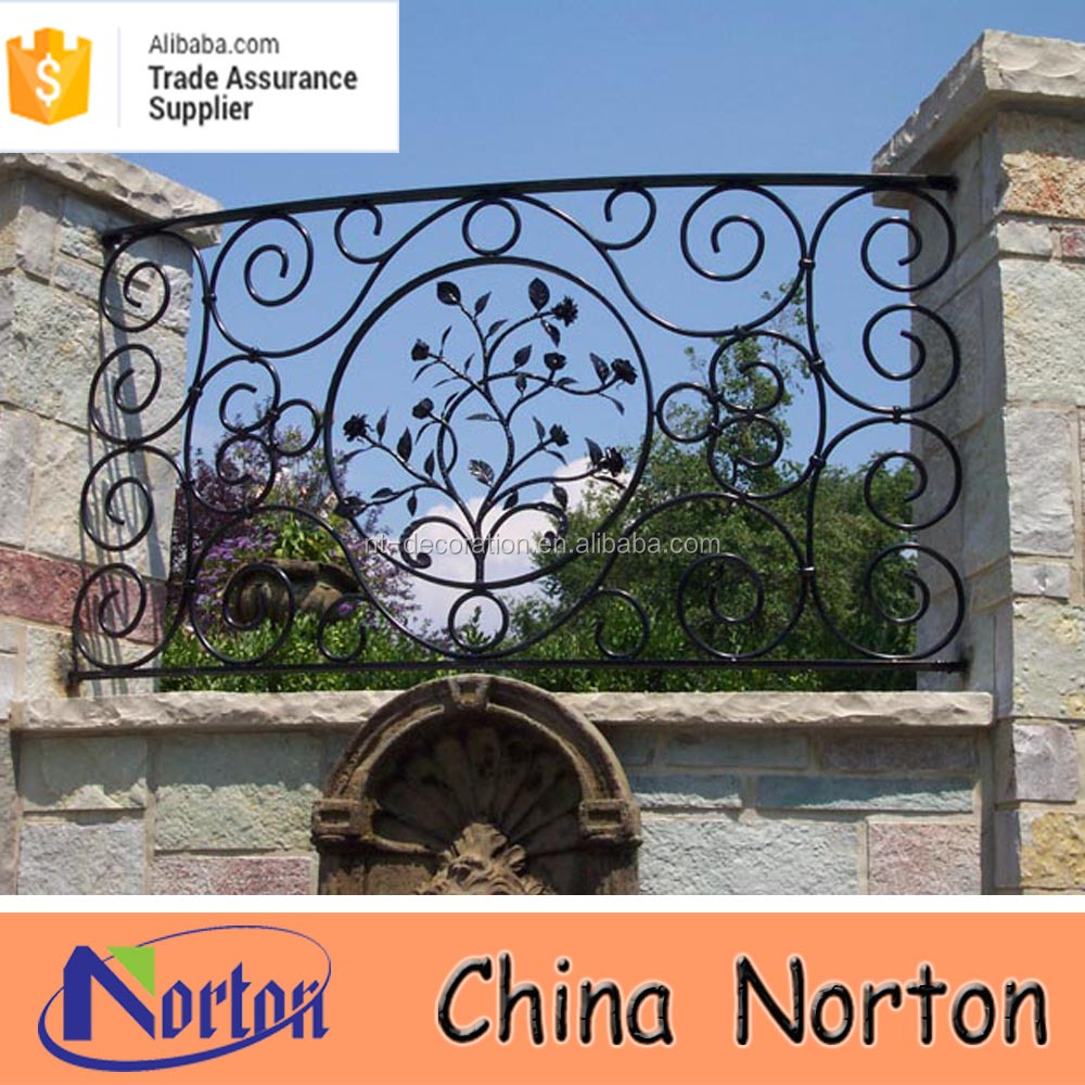 outdoor metal cast iron fence decorations NTIF-045S