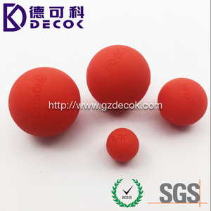 50mm solid rubber ball red color