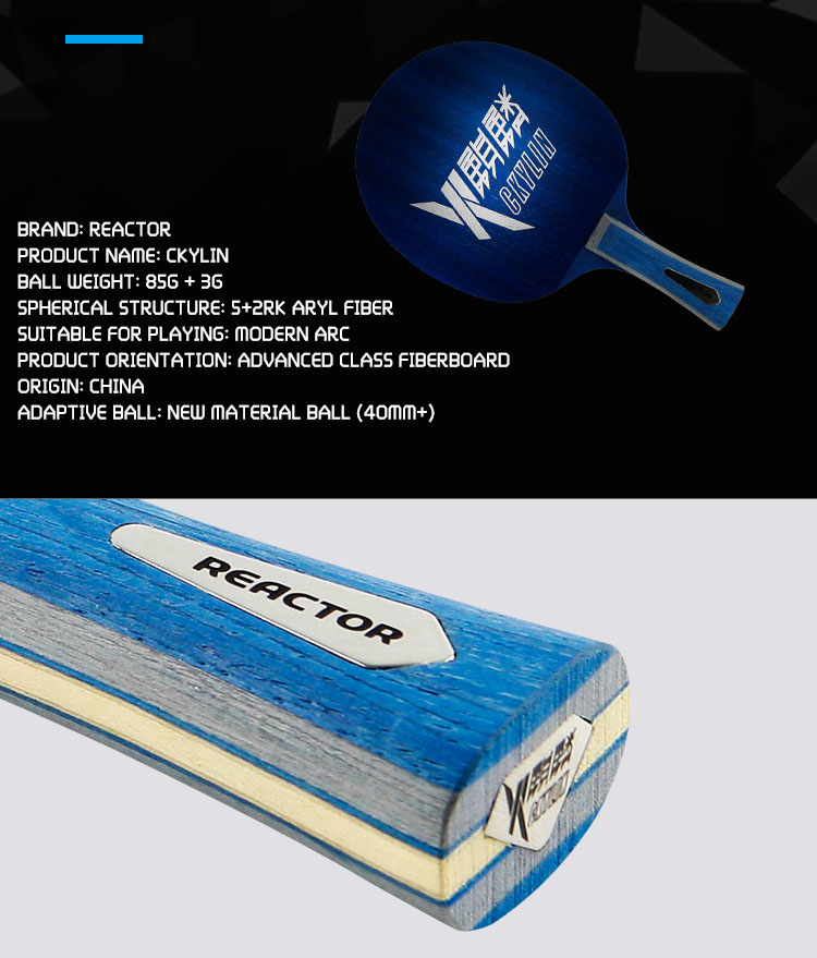 REACTOR wholesale table tennis blade paddle