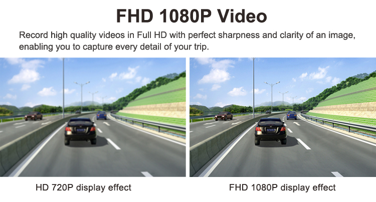 Wifi support full hd 1080p night vision hidden inside car camera