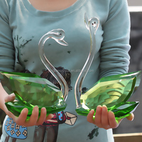 Crystal lovely swan,crystal lovely swan for home decoration,crystal lovely swan for crystal gift
