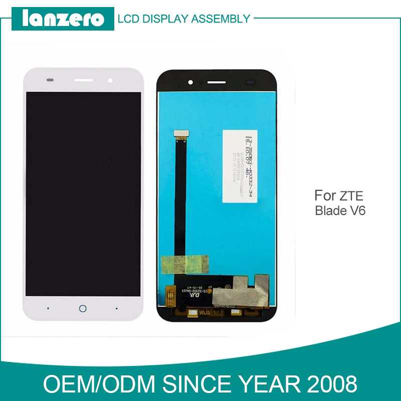 For ZTE V6 Digitzier Panel Replacement Parts for ZTE Blade V6 Touch + LCD Display Screen Assembly