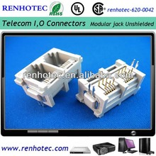 2port top entry rj11 connector 6P6C PCB modular jack connector