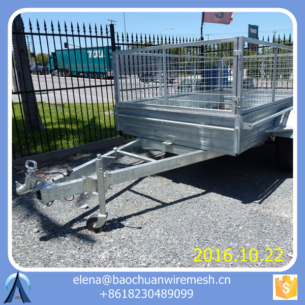 Tandem Trailer with Cage / steel cage trailer / utility cage trailer