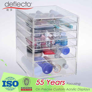 Beautiful 6 Tiers Clear Acrylic Cosmetic Makeup Storage Cube Organizer with 6 drawers