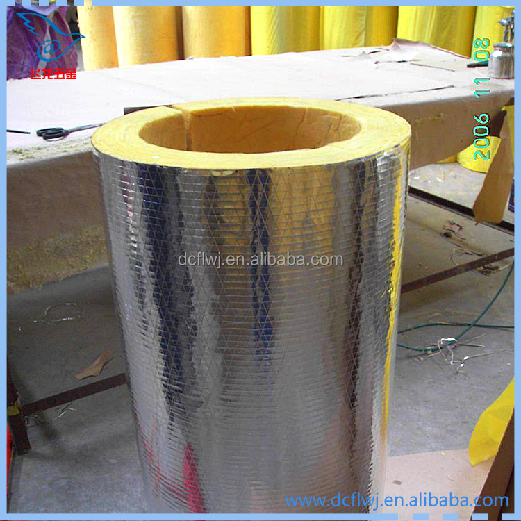 Isolated Pe Foam thermal insulation glass wool pipe