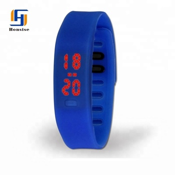 New Digital Display Silicone Band Touch Screen Sports LED Hand Watch