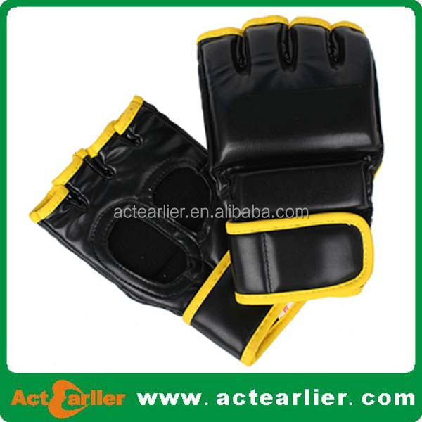 cheap custom printed custom made PU leather mma gloves