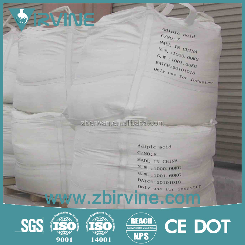 White powder 99.7%min Adipic acid use for industry grade