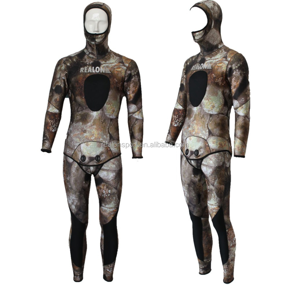 Neoprene Surfing Diving Suit Camo Spearfishing Wetsuit