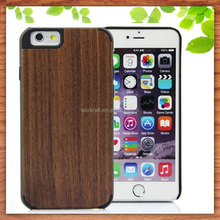 factory cheap price black walnut wood cell phone cover case for iphone 6s plus, wood hard case for iphone 6s plus