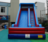Giant Top sale double lane inflatable dry slide for kids commercial
