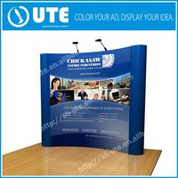 Exhibition backdrop 10ft 8ft Curve shape Magnetic folding promotional table