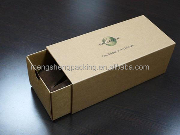 Custom Eco-friendly Recycle Brown Kraft Paper Shoe Box