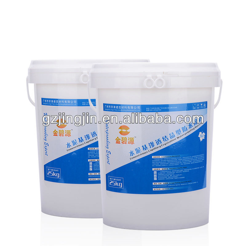 Percolation Crystalline Cement Based Waterproof Materials