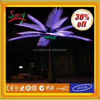 2013 New fashion Novelty Solar LED Rechargeable foldable/portable palm tree lamp outdoor