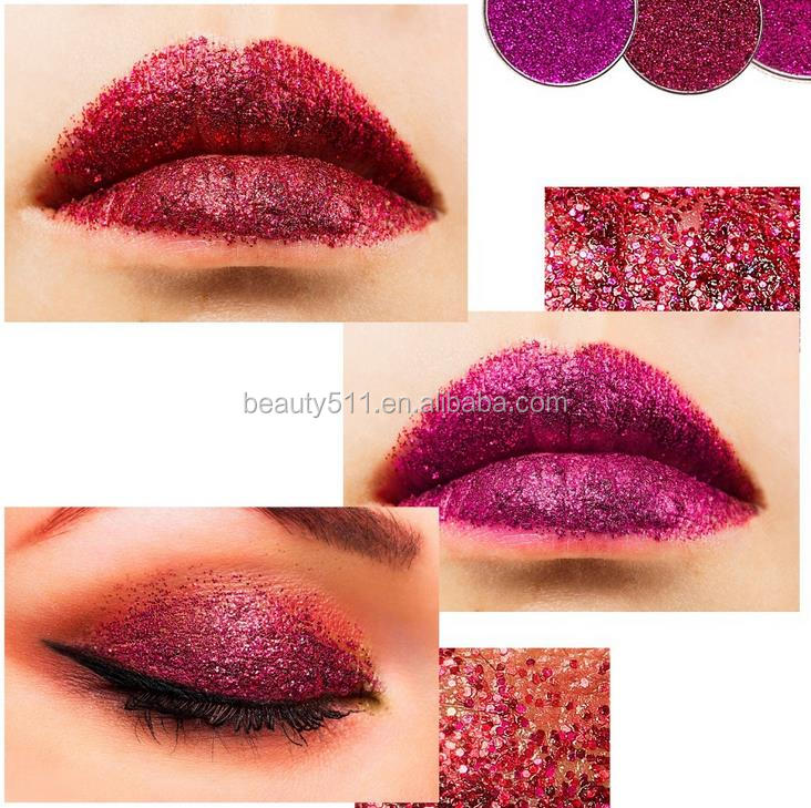 OEM 24colors Multipurpose Long lasting Waterproof Paillette Body Glitter Kohl/Eye shadow powder