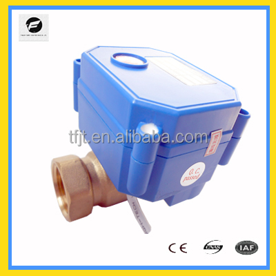 mini brass 2-way motorized mini ball valve CWX-15Q/<strong>N</strong> for water filter,HAVC,washing machines