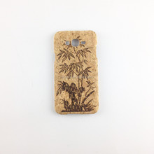 mobile phone accessories,cork wood laser design wooden cover for Iphone 6,engraving mobile phone cover