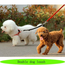 New design double dog leash, dog leash double hooks, two hooks pet leash