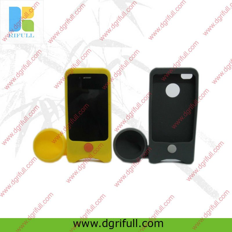 Sound amplification silicone gel case for apple iphone 3gs