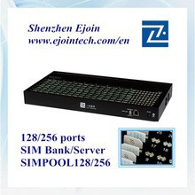 2015 hotsale Ejoin SIM Pool 128/256,voice home gateway remote manage device of sim cards,avoid sim blocking SIM box/bank