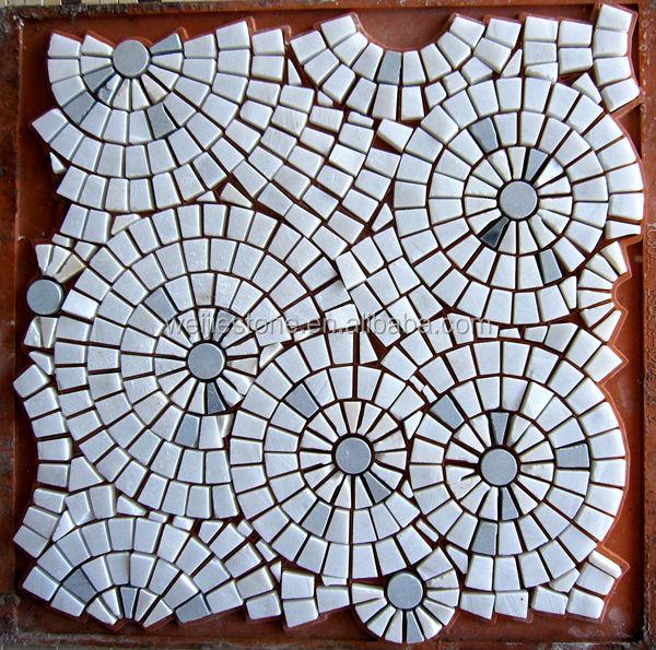 Design marbre au sol de mod le mosa que dessin de fleur for Dessin mosaique carrelage