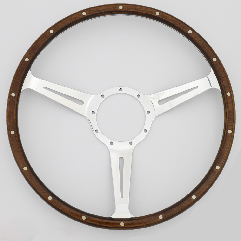 16'' Classic Laminated wood steering wheel for MG Jaguar Mustang