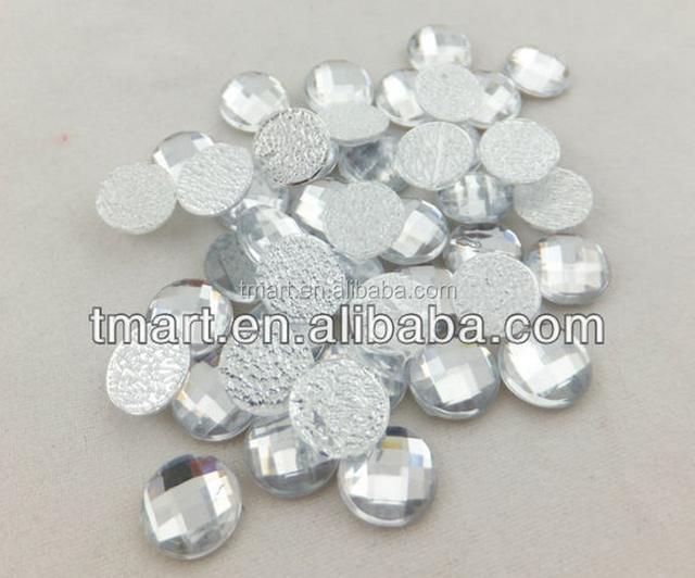 Bulk hot fix flatback round plastic clear acrylic beads
