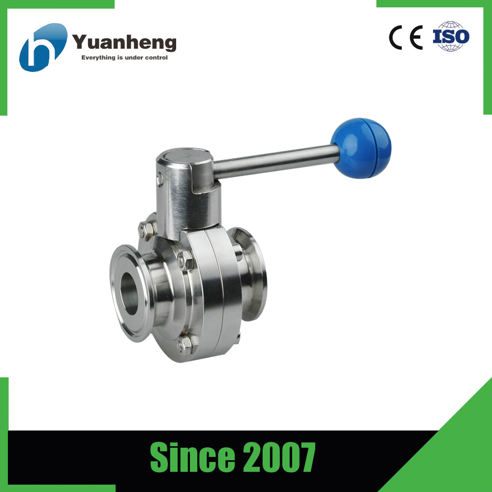 Sanitary stainless steel CF8M 1 inch butterfly valve