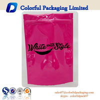 Factory price bags powder package bag round bottom plastic bags with zipper